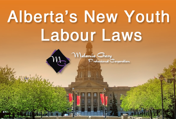 Alberta's government has issued new youth labour laws